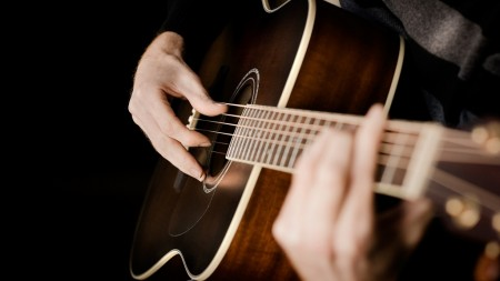 Guitar Photography Wallpaper Stock Images